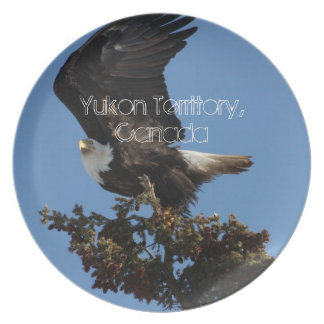 BERTF Bald Eagle Ready to Flee Melamine Plate