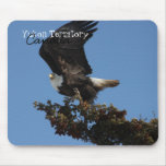 BERTF Bald Eagle Ready to Flee Mouse Pad