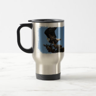 BERTF Bald Eagle Ready to Flee 15 Oz Stainless Steel Travel Mug