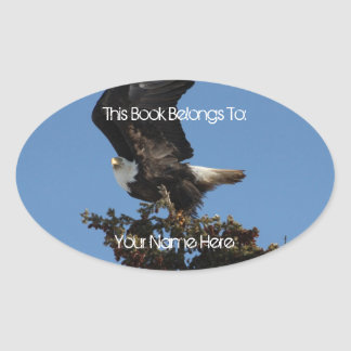 BERTF Bald Eagle Ready to Flee Oval Sticker