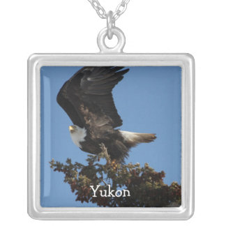 BERTF Bald Eagle Ready to Flee Silver Plated Necklace