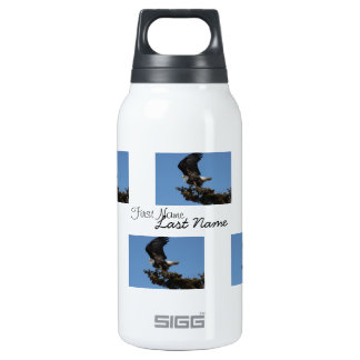 BERTF Bald Eagle Ready to Flee Thermos Water Bottle