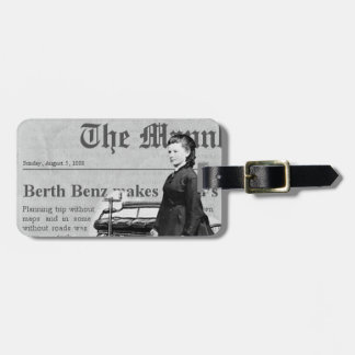 Bertha Benz driver first long distance auto trip Bag Tag