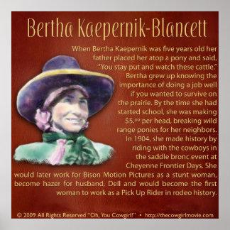 Bertha Kaepernik-Blancett Poster