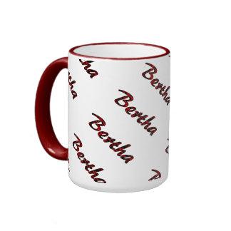 Bertha Red Style 15 oz Ringer Mug