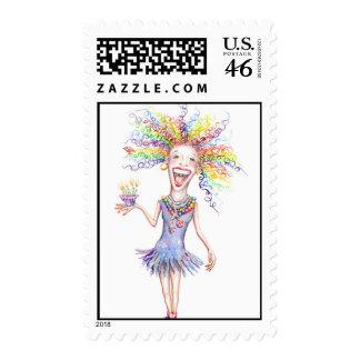Bertha the Birthday Broad Stamps!