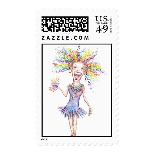 Bertha the Birthday Broad Stamps! Postage