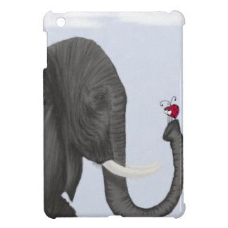 Bertha The Elephant And Her Visitor iPad Mini Case