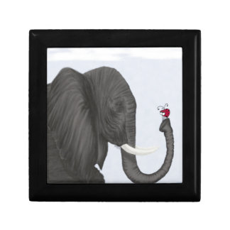 Bertha The Elephant And Her Visitor Jewelry Box