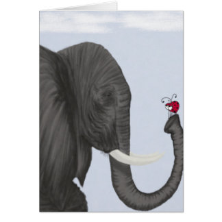 Bertha The Elephant And Her Visitor Note Card