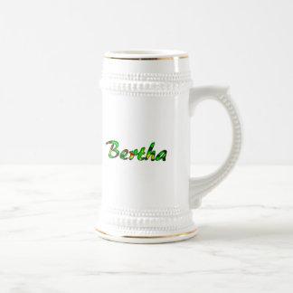 Bertha white beer mug