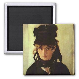 Berthe Morisot 2 Inch Square Magnet