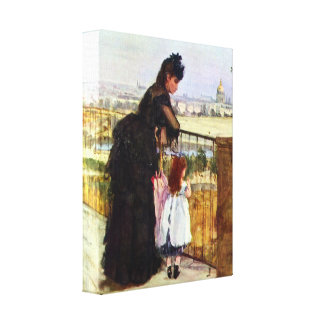 Berthe Morisot - Balcony Gallery Wrap Canvas