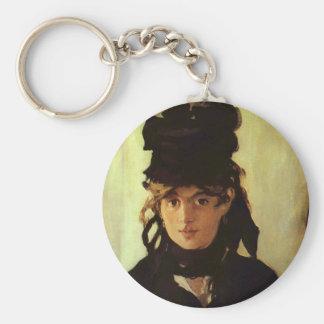 Berthe Morisot Basic Round Button Keychain