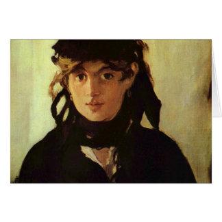 Berthe Morisot by Edouard Manet Greeting Card