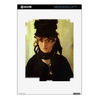 Berthe Morisot by Edouard Manet Decal For iPad 3