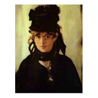 Berthe Morisot by Edouard Manet Postcard