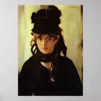 Berthe Morisot by Edouard Manet Poster