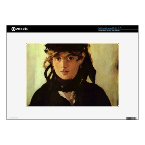 Berthe Morisot by Edouard Manet Skins For Large Netbooks