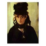 Berthe Morisot de Eduardo Manet Tarjeta Postal