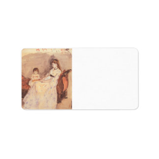 Berthe Morisot - Edma the sister of the artist wit Personalized Address Labels