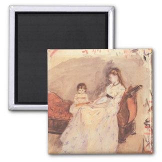 Berthe Morisot - Edma the sister of the artist wit Fridge Magnet