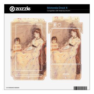 Berthe Morisot - Edma the sister of the artist wit Motorola Droid X Skin