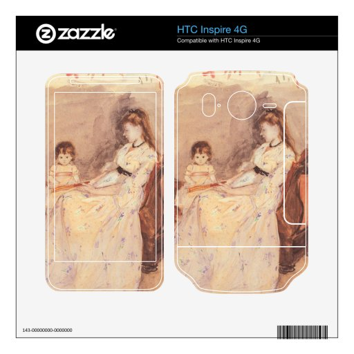 Berthe Morisot - Edma the sister of the artist wit HTC Inspire 4G Decals