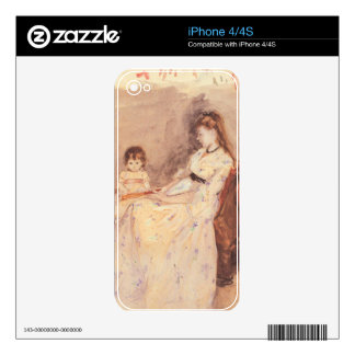 Berthe Morisot - Edma the sister of the artist wit Skins For The iPhone 4