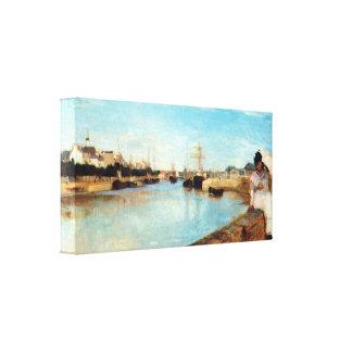 Berthe Morisot - el puerto de Lorient Impresiones En Lona Estiradas