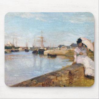 Berthe Morisot el puerto en Lorient Alfombrilla De Ratones