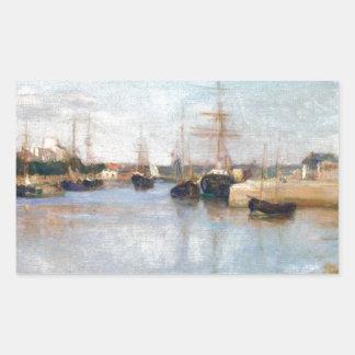 Berthe Morisot el puerto en Lorient Pegatina Rectangular