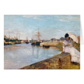 Berthe Morisot el puerto en Lorient Tarjeta De Felicitación