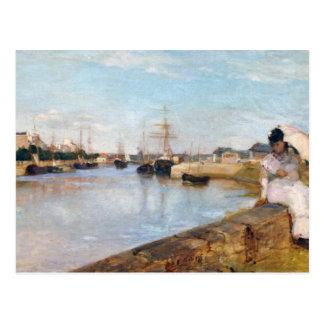 Berthe Morisot el puerto en Lorient Tarjetas Postales