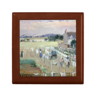 Berthe Morisot - Hanging the Laundry out to Dry Keepsake Box