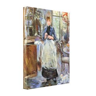 Berthe Morisot - In Dining Room Canvas Print