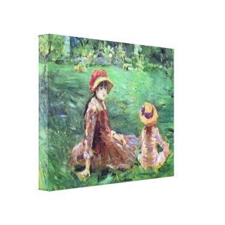 Berthe Morisot - In the garden at Maurecourt Canvas Print
