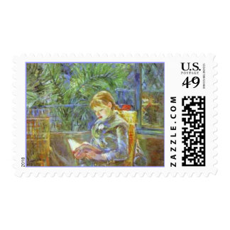 Berthe Morisot Little Girl Reading Fine Art Stamps