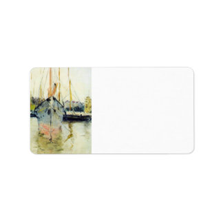 Berthe Morisot - Midina at the entrance to the Isl Personalized Address Labels