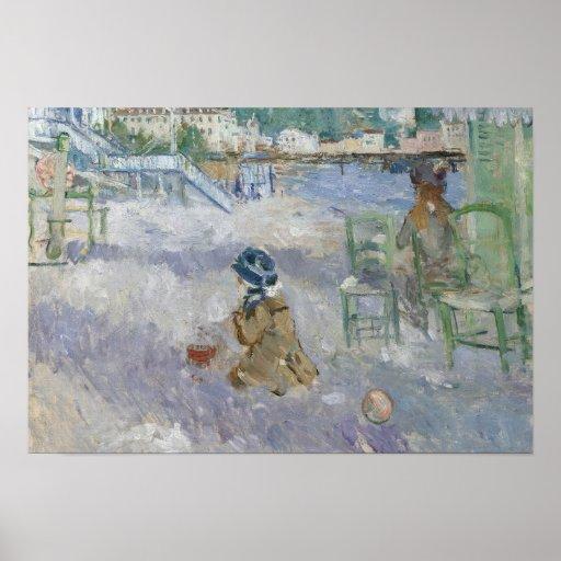Berthe Morisot - Nice Beach Poster