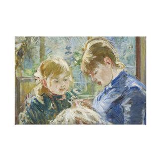 Berthe Morisot - The Artist's Daughter, Julie Canvas Print