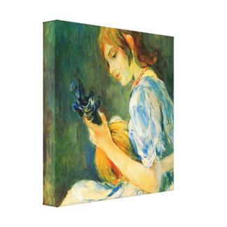 Berthe Morisot - The Mandolin Canvas Print