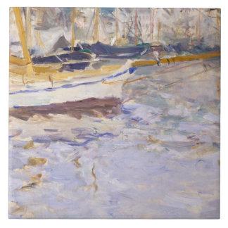 Berthe Morisot - The Port of Nice Ceramic Tile