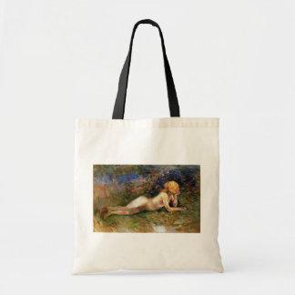 Berthe Morisot - The Reclining Sherperdess Budget Tote Bag