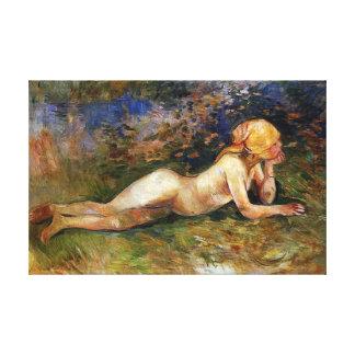 Berthe Morisot - The Reclining Sherperdess Canvas Print