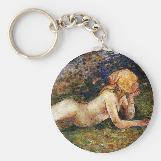 Berthe Morisot - The Reclining Sherperdess Keychain