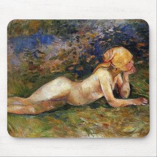 Berthe Morisot - The Reclining Sherperdess Mouse Pad