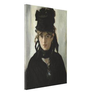 Berthe Morisot with a Bouquet of Violets by Manet Stretched Canvas Print