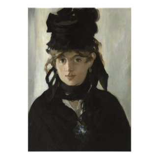 Berthe Morisot with a Bouquet of Violets by Manet Personalized Invite
