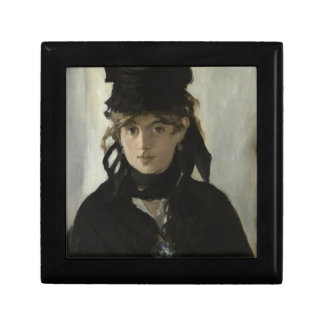 Berthe Morisot with a Bouquet of Violets by Manet Keepsake Box